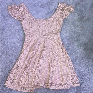 Pink Floral Lace Dress 👗